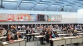 Der Fraktionssitzungssaal der SPD vom Podium aus gesehen