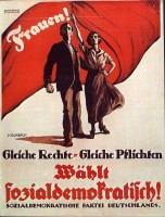 Historisches SPD Wahlkampfposter