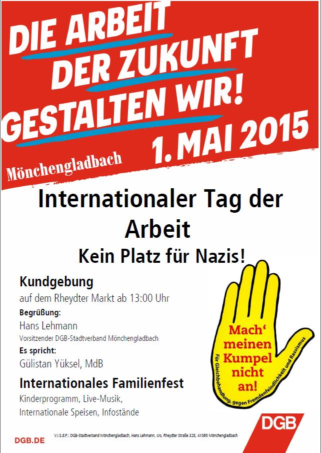 Tag der Arbeit 2015 DGB Plakat