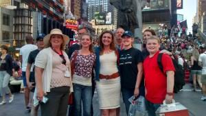 Eva Gastfamilie und Familie in New York