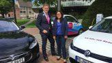 NEW-Vorstand Frank Kindervatter und Gülistan Yüksel, MdB