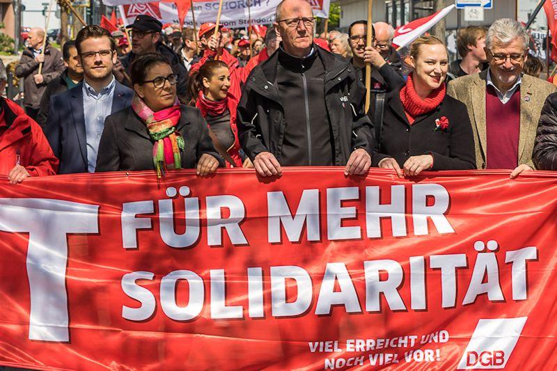 Demonstration und Kundgebung in Mönchengladbach