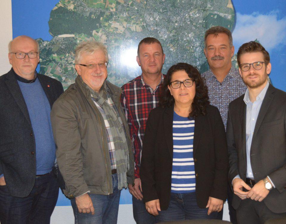 Betriebsrat GE, IG Metall und SPD im Gespräch